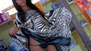 Pretty ebony Kenya Diaw stripping  photo 1