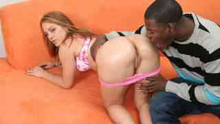 Big black cock for pretty blond teen...photo 1
