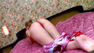 Krystal Bed Great petite brunette with big tits Krystal removing clothes in the bedroom