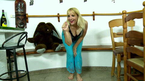 Beautiful wife blonde Lady Athena stri...photo 1