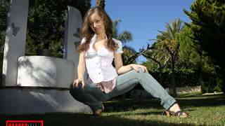 Horny teen brunette Lena Luminescente ...photo 1