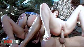 Leslie Fox Savanah Andrea Moranty Jorge 2 sexy tourists assfucked and double fucked