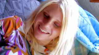 A blond chick deeply blows her
