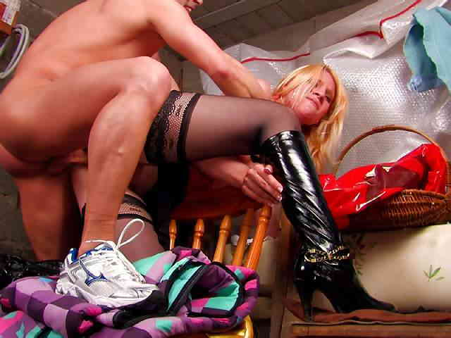 A blond slut  ass and pussy are dismantled by a crude  photo 06