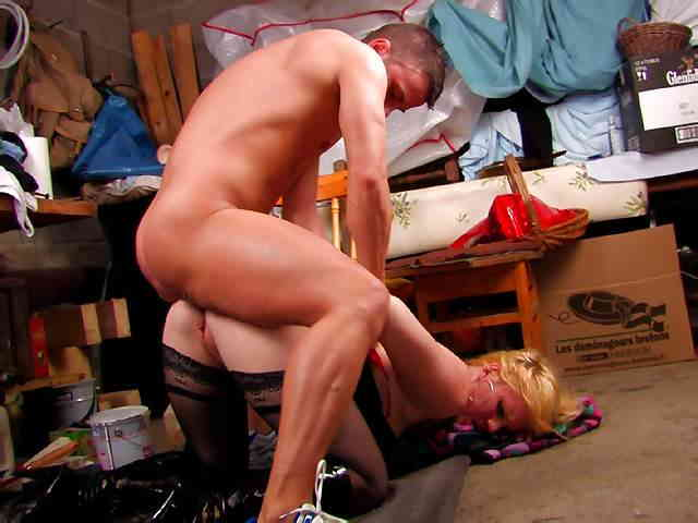 A blond slut  ass and pussy are dismantled by a crude  photo 08