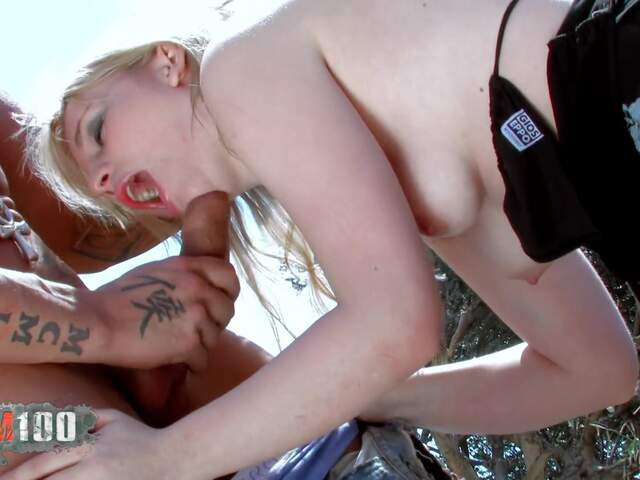 Blond babe explosed by a big cock guy  photo 02