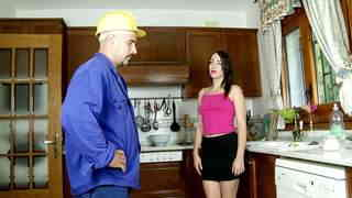 Bored housewife plumbed by the plumber  photo 01