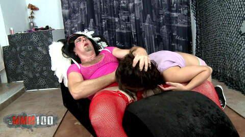 Hot spanish brunette playing and sucki...photo 4