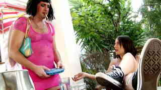Cross dressing whore brutally  fucking her mistress   photo 01