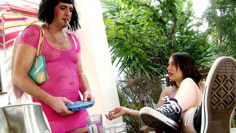 Cross dressing whore brutally  fucking...photo 2