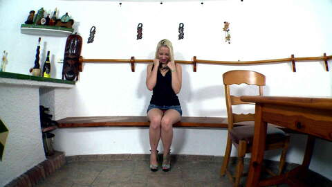 Pretty young blonde Liz Rainbow doing ...photo 1