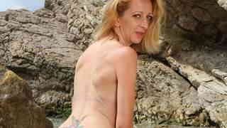 Hot Louise Du Lac stripping by the sea   photo 15