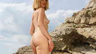 Hot Louise Du Lac stripping by the sea   photo 16