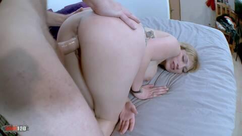 Busty young slut doing a porn sport tu...photo 3