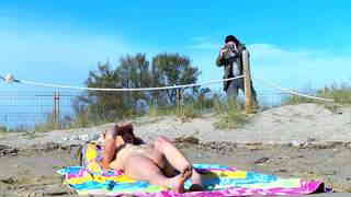 Redhead Anal fucking and  squirting  at the beachphoto 1