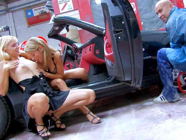 blonds sluts ass fucked in a sport car  photo 02