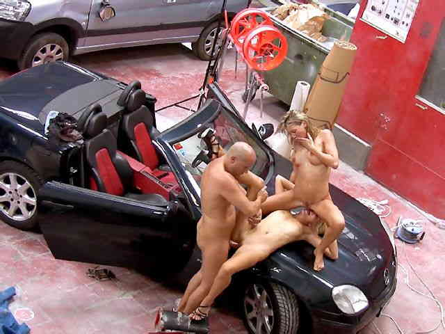 blonds sluts ass fucked in a sport car  photo 08