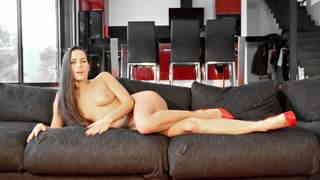 Pornstar brunette Mea Melone removing clothes   photo 15