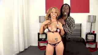 Melrose Foxxx Byron Long Big black cock for pretty mixed-raced babe