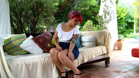 Horny teen redhead Mey Max removing cl...photo 1