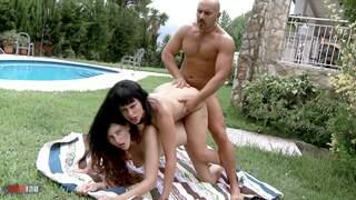 Nadia Fernandez Sabrina Deep Bryan Da Ferro Fucking threesome pool party