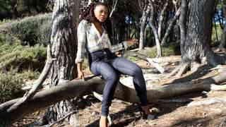Hot ebony Nancy Love dancing and strip...photo 1