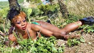 Hot ebony Naomi Lionness getting naked   photo 14