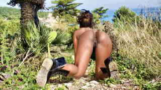 Hot ebony Naomi Lionness getting naked   photo 16