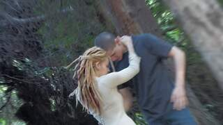 girl sucking her BF in the wood, shoot...photo 1