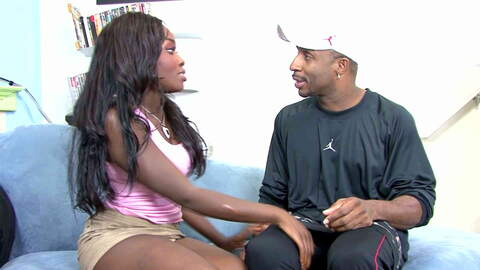 Ebony goddess gets a big cock and a cr...photo 1