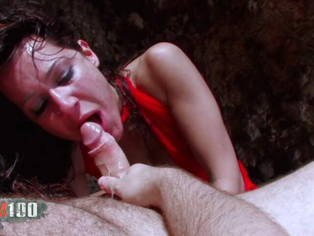 Horny arabian bitch double penetration on the beach   photo 05