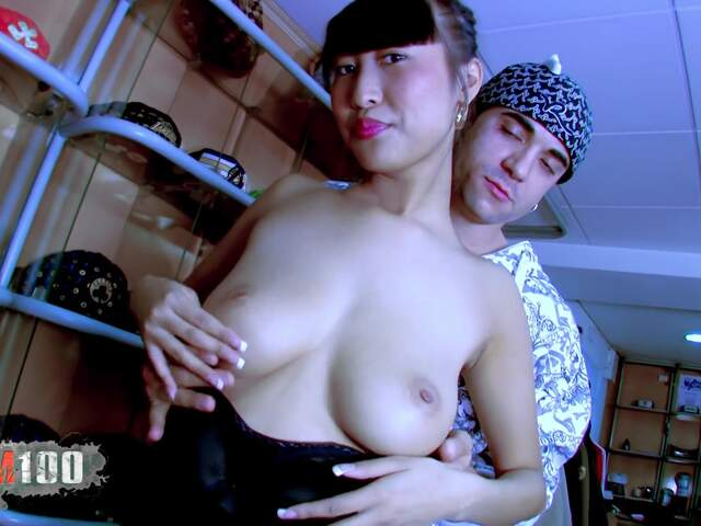 Casting of a young natural bigtits asian babe  photo 01