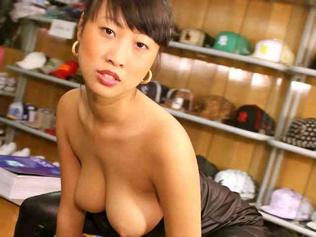 Lovely oriental with big tits Sharon Lee doing a hot striptease   photo 05