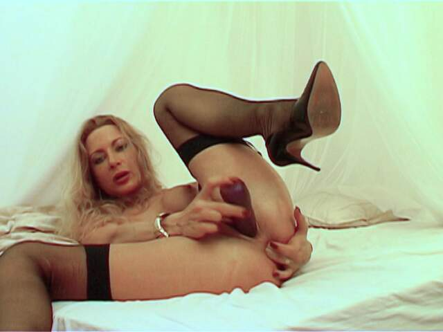 Pretty MILF blonde Sidjey Collins doing a hot striptease live on the webcam   photo 15
