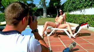 Photo session ending with a cock in the model's pussy  photo 02