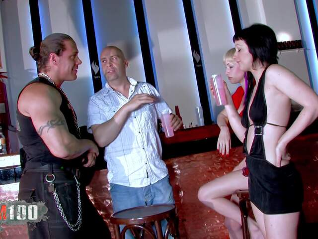 Brutal sex orgy in a Barcelona's night club  photo 01