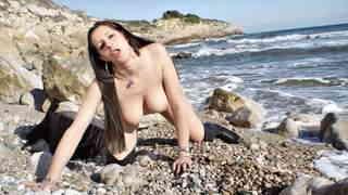 Sonia Sex Beach Sonia Sex stripping on the beach