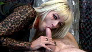 Sexy blonde vampire cock sucker and hard fucker  photo 07
