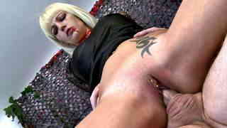 Sexy blonde vampire cock sucker and hard fucker  photo 12