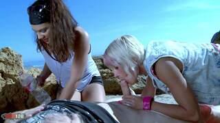 Stella Johanssen Nicky Wayne Terry Beach Getting hard under the sun!!!