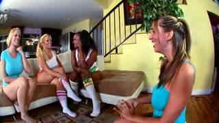 Black and blond in a big tits quatuor lesbian version  photo 01