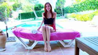 Geting nude at the pool  photo 01