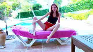 Geting nude at the pool  photo 02