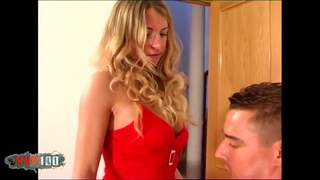 Blonde babe getting fucked by a gian...photo 1