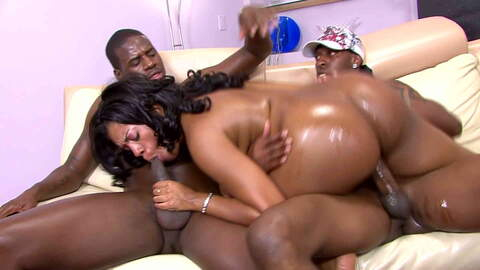 2 big black cocks for a big black bu...photo 1