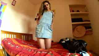 Pretty arab blonde Tania Has doing a strip alone on her webcam   photo 01