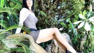 Pretty brunette Tania Kiss removing cl...photo 3