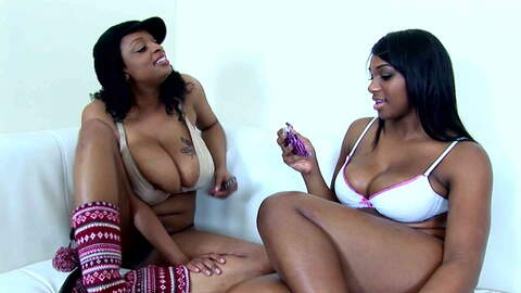 2 blacks lesbians with huge tits and a...photo 2