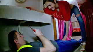 Hot housewife fucked by the plumber  photo 02