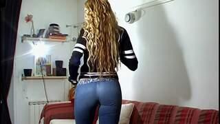 Great blonde with big tits Venus strip...photo 3